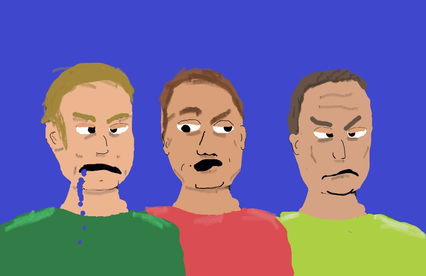 Artistic rendition of the obnoxious dudes.