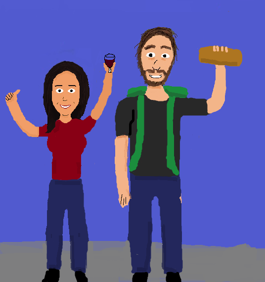 Hitchhiking part 2, now with bread and wine. (yes, I used the same picture)