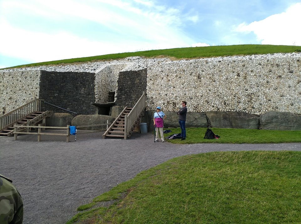 Entrance way into the mound.