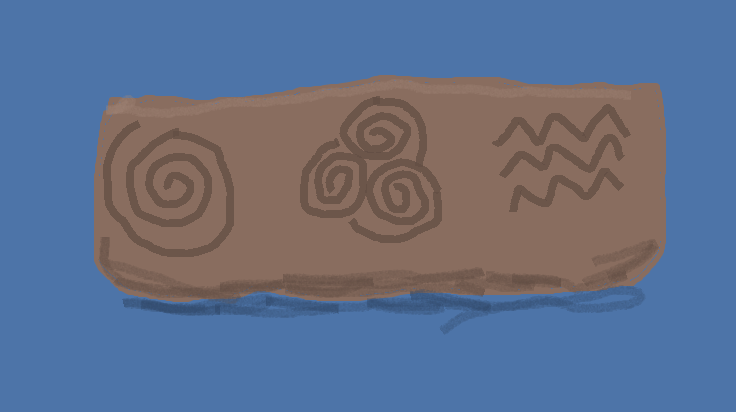 My rendition of the stone carvings.