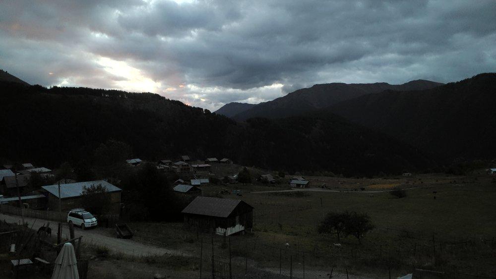 Omalo at dusk