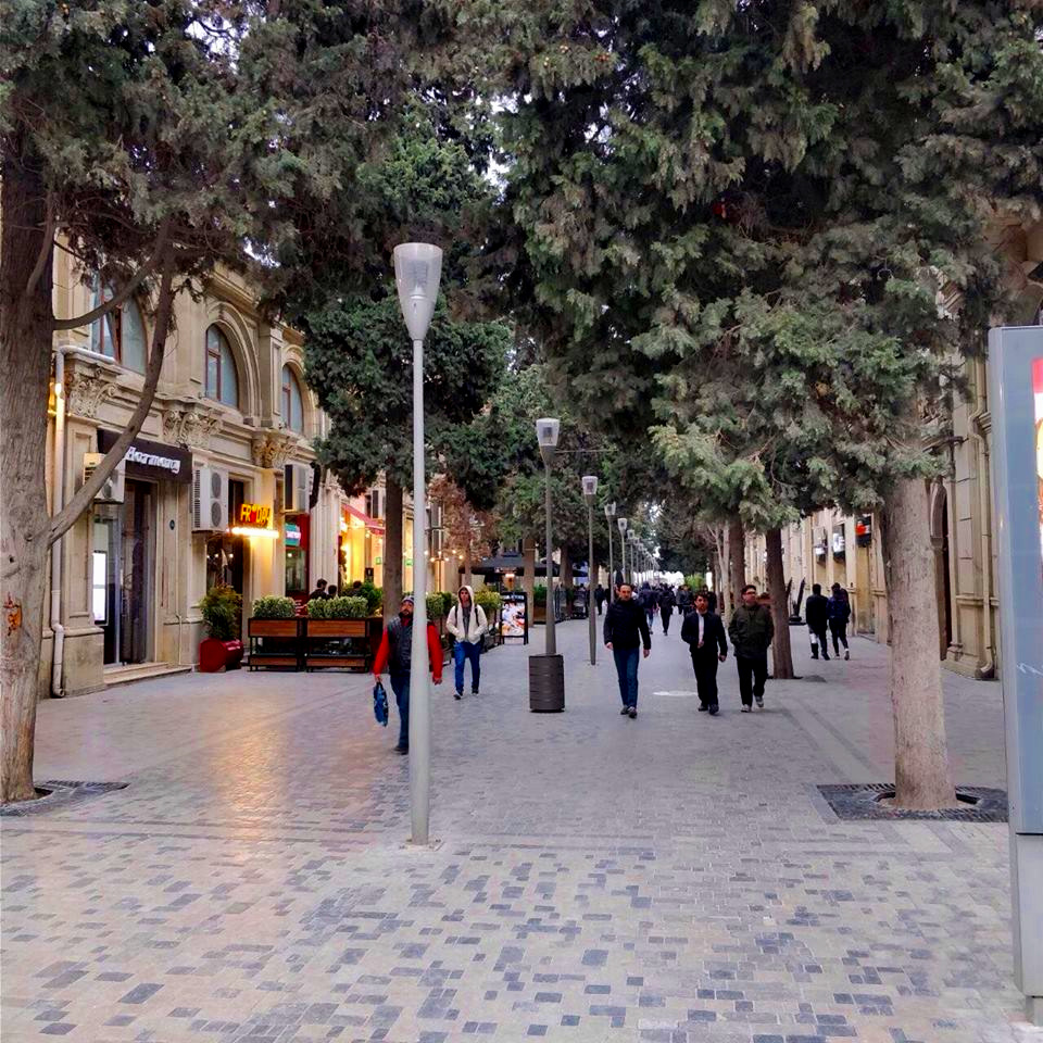 Pedestrian street in the center