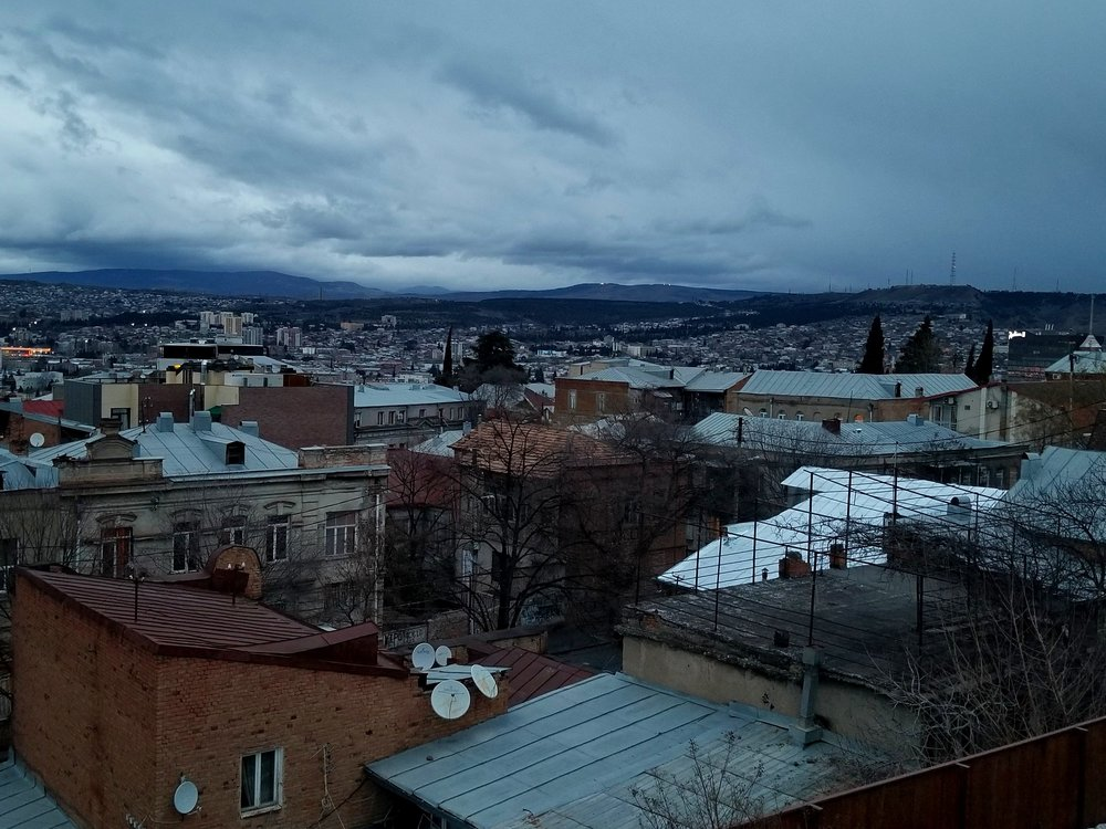 Tbilisi from a balcony