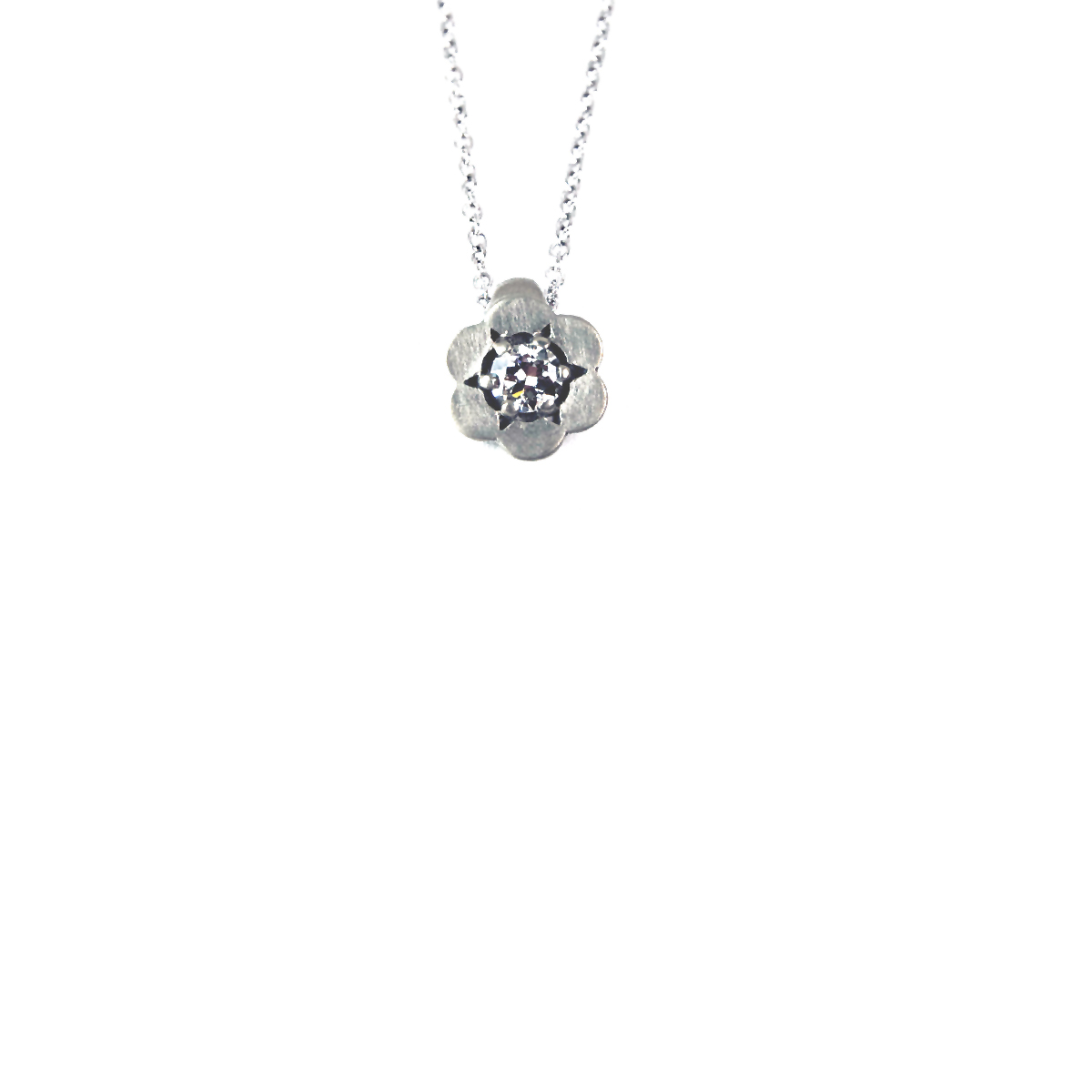round t ct pendant diamond and necklace off tw cut k w solitare solitaire