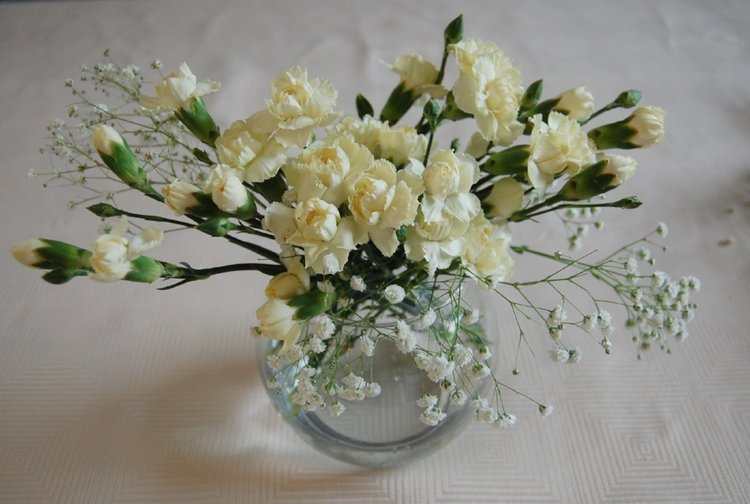 Small white flower arrangement — J.LEE FLOWERS