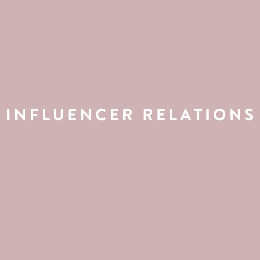 INFLUENCER RELATIONS