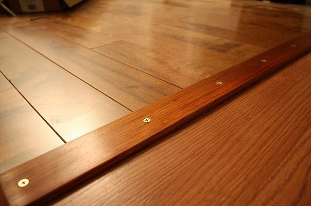 Throwback to the time I made a threshold for my friend Nathanael's house from Cocobolo, and mounted it with brass screws. #maker #diy #woodworking
