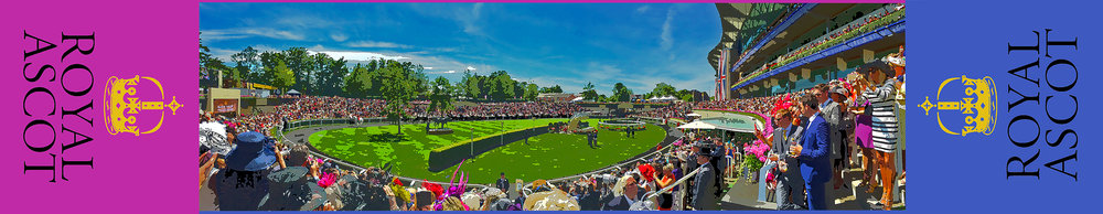 The paddock at Royal Ascot, Thursday, June 18, 2015. Gold Cup Day. A gift to the group celebrating the view, a win and a day well spent. -