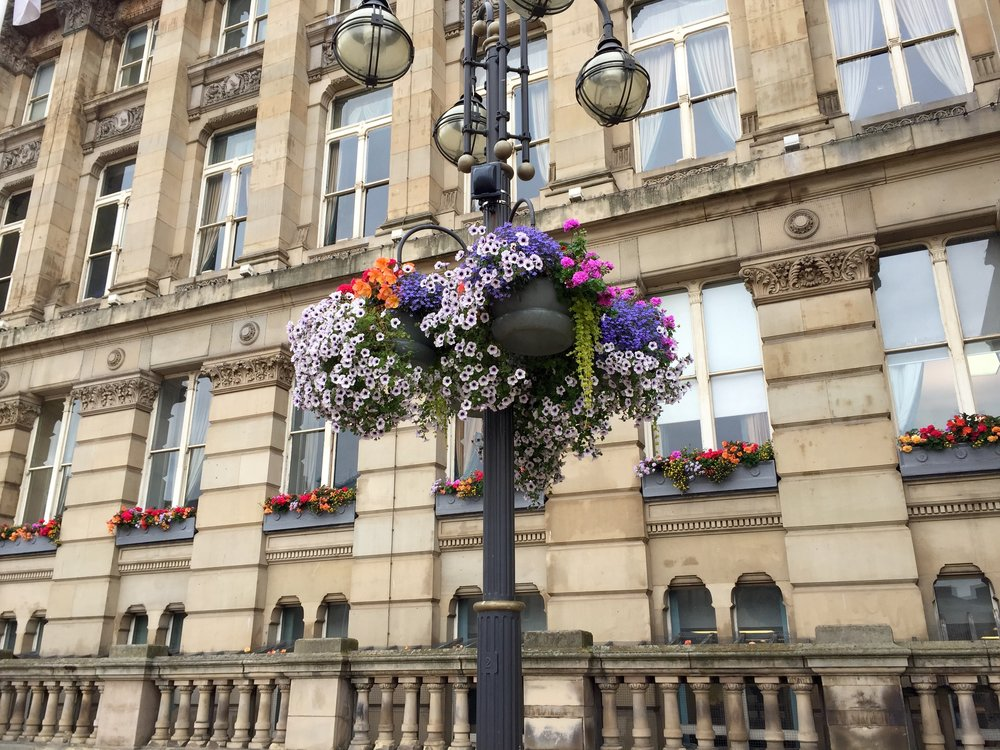 Flowers Outside the Council House