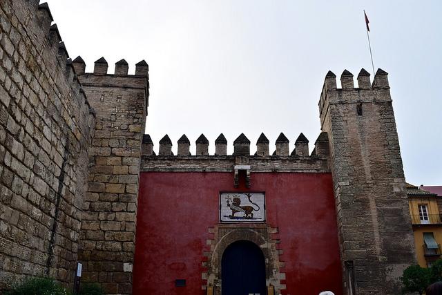 Gate into Alcázar de Seville