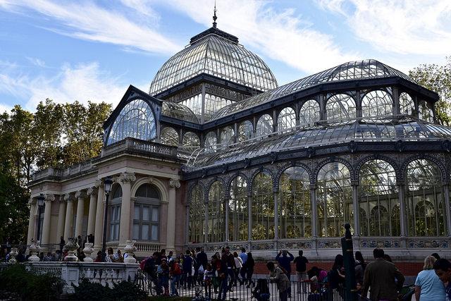 Palacio de Cristal in el Retiro Park