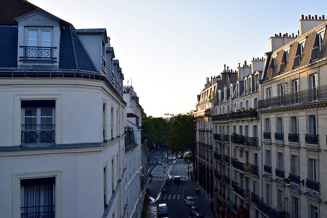 View from our Airbnb in a fancy Paris neighborhood