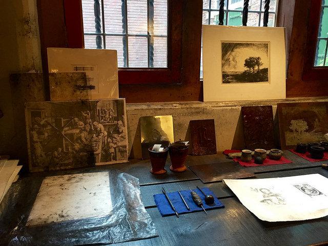 Rembrandt's etching studio