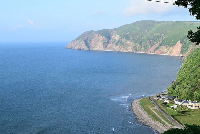View from our room in Lynton