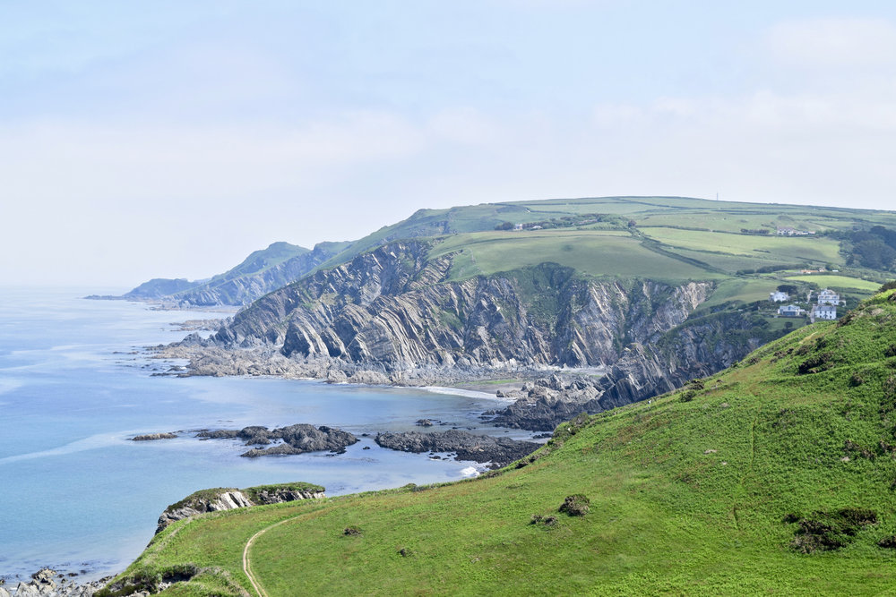 Southwest Coast Path out of Mortehoe