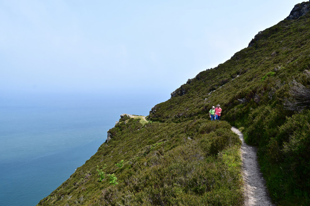 Steep hike!