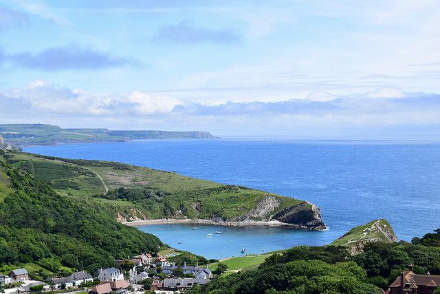 Walking to Lulworth Cove