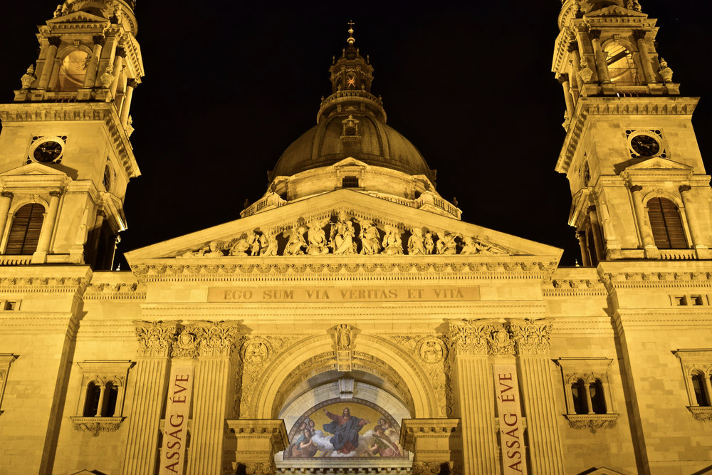 St. Stephen's Basilica. You can see his mummified right hand inside the church, if that's your thing