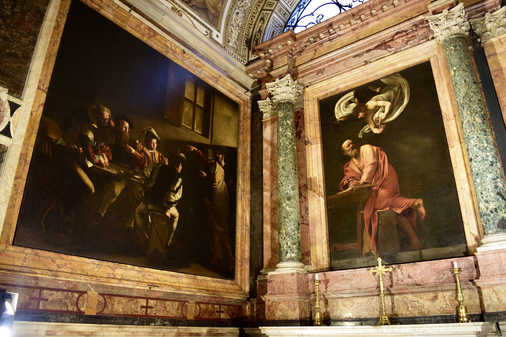 Caravaggio Paintings of St. Matthew