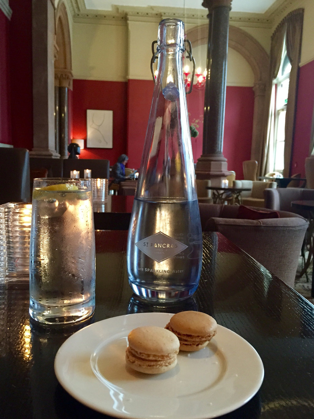 Macaroons and Sparkling Water