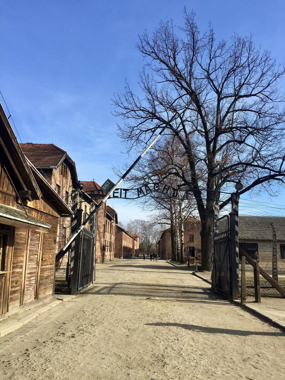 Auschwitz I.Arbeit macht frei: Work sets you free.