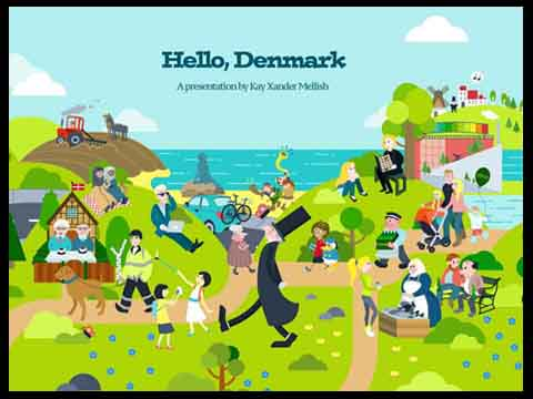 ON DR.DK: THIS IMAGE SHOWS HOW DENMARK HAS CHANGED OVER THE PASt 25 YEARS - DR.dk, the Danish public media network, wrote about the comic drawing Kay commissioned to update a 1992 drawing by famed comic artist Claus Deleuran.  The new image highlights the country's growing diversity, as well as its turn away from heavy industry over the past two decades in favor of