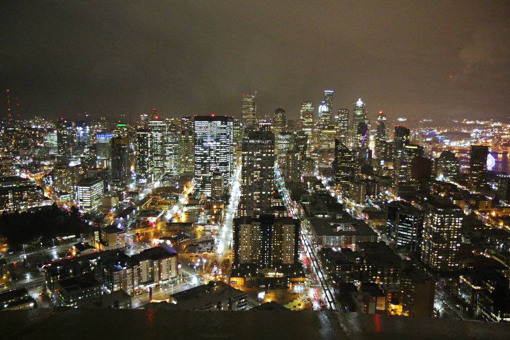Seattle at Night - View from the Space Needle