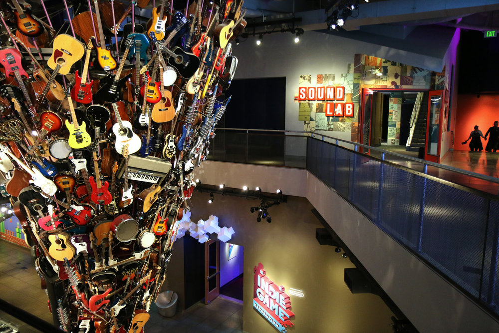 The Museum of Pop Culture (MoPOP) in Seattle, Washington. Part of City Pass - a way to see the city and save money.