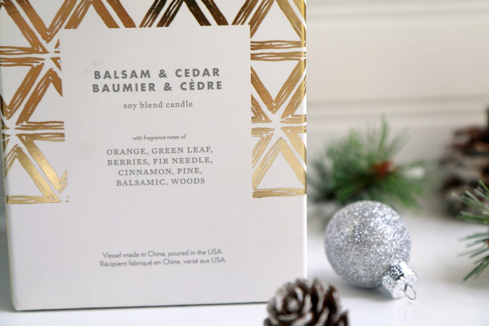 Balsam & Cedar Candle from West Elm