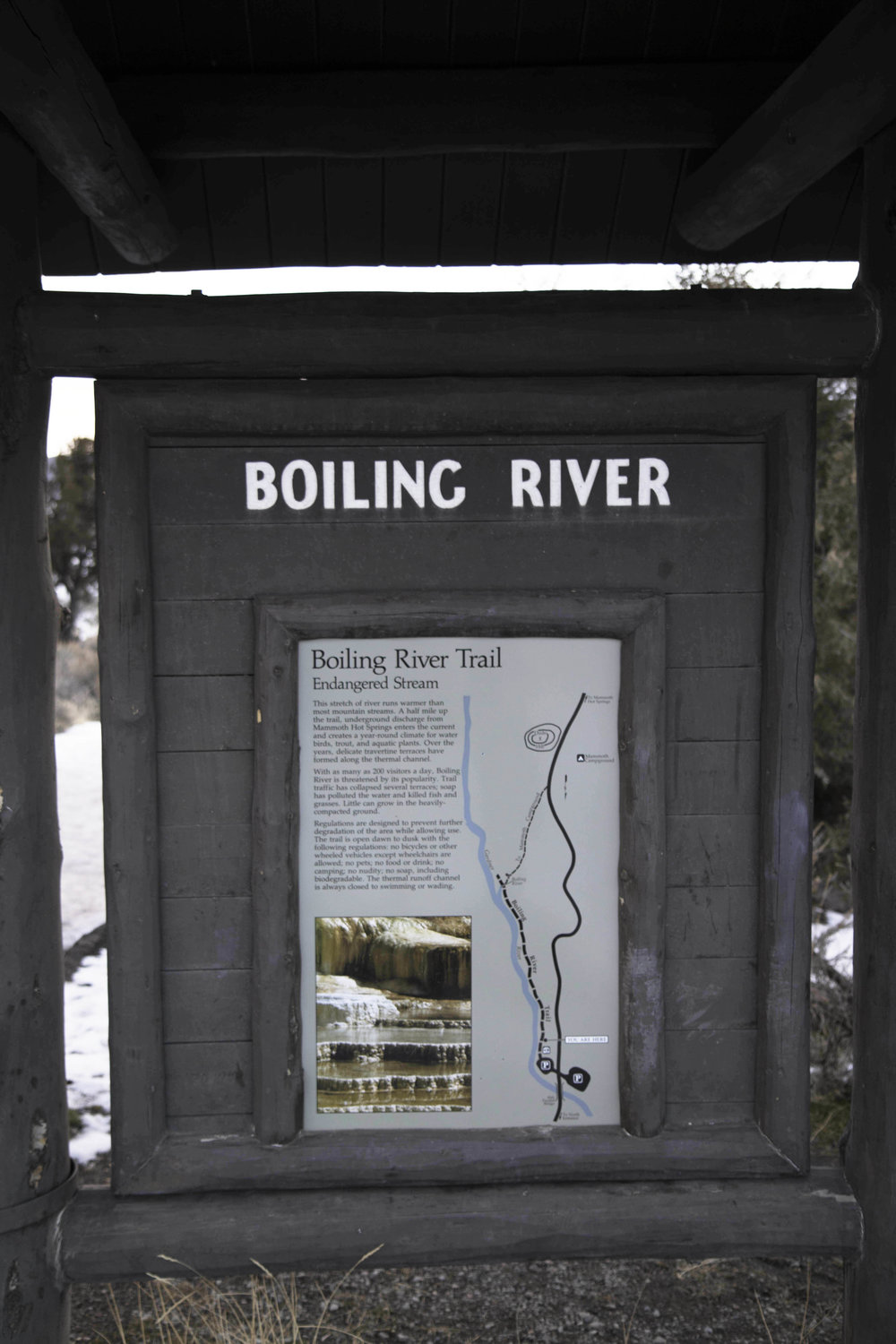 Boiling River Yellowstone National Park
