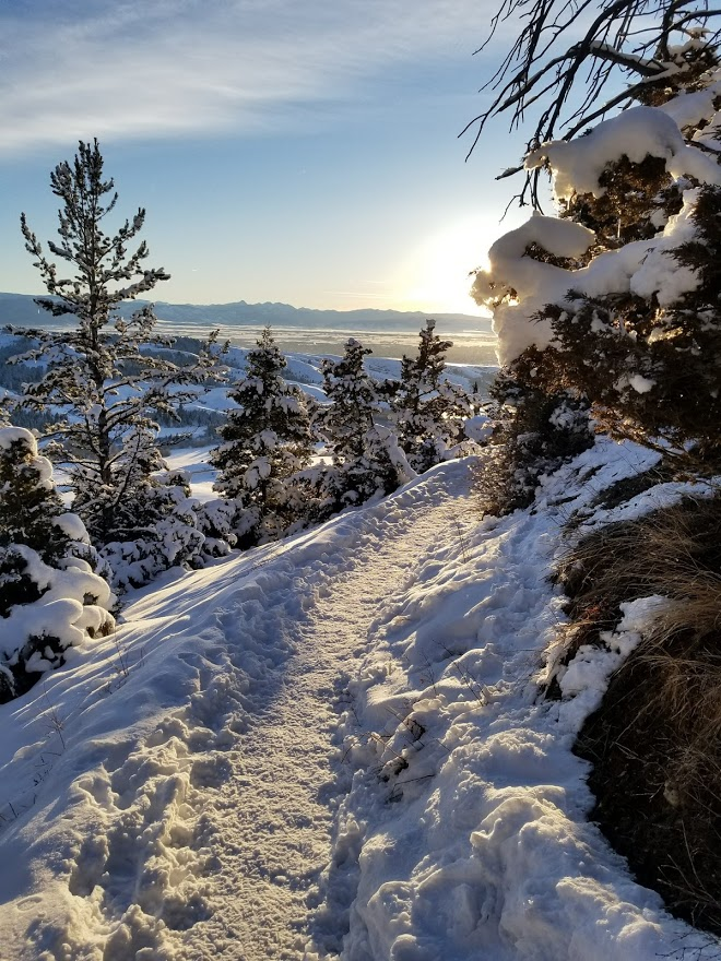 Another gorgeous photo of the sunset while hiking the M trail in Bozeman