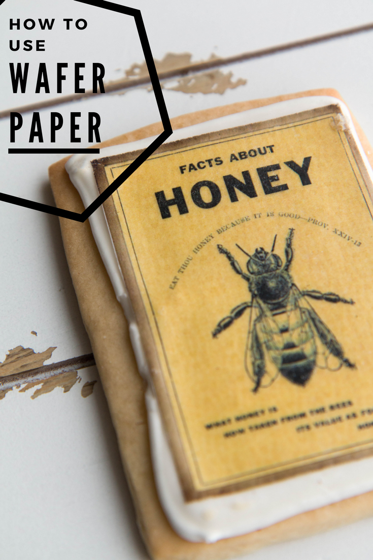 Adorable Edible Wafer Paper Bee Cookies by Fancy Flours