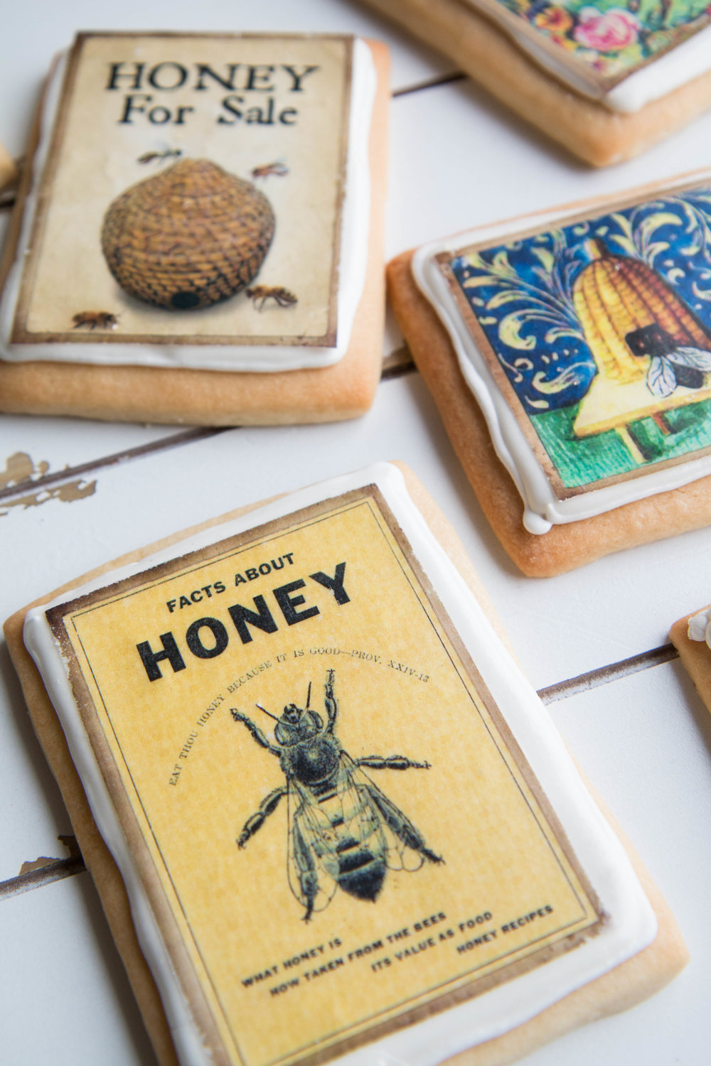 Adorable bee and honey themed cookies - perfect for any party!