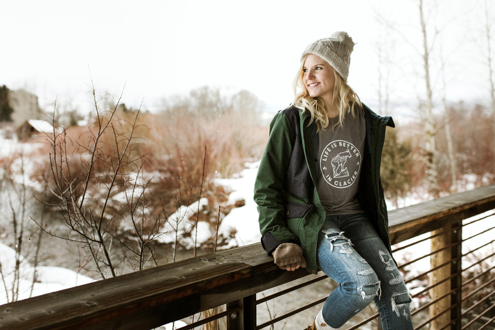 "The Montana Scene ""Life is Better in Glacier"" tee shirt by blogger Bri Sul"