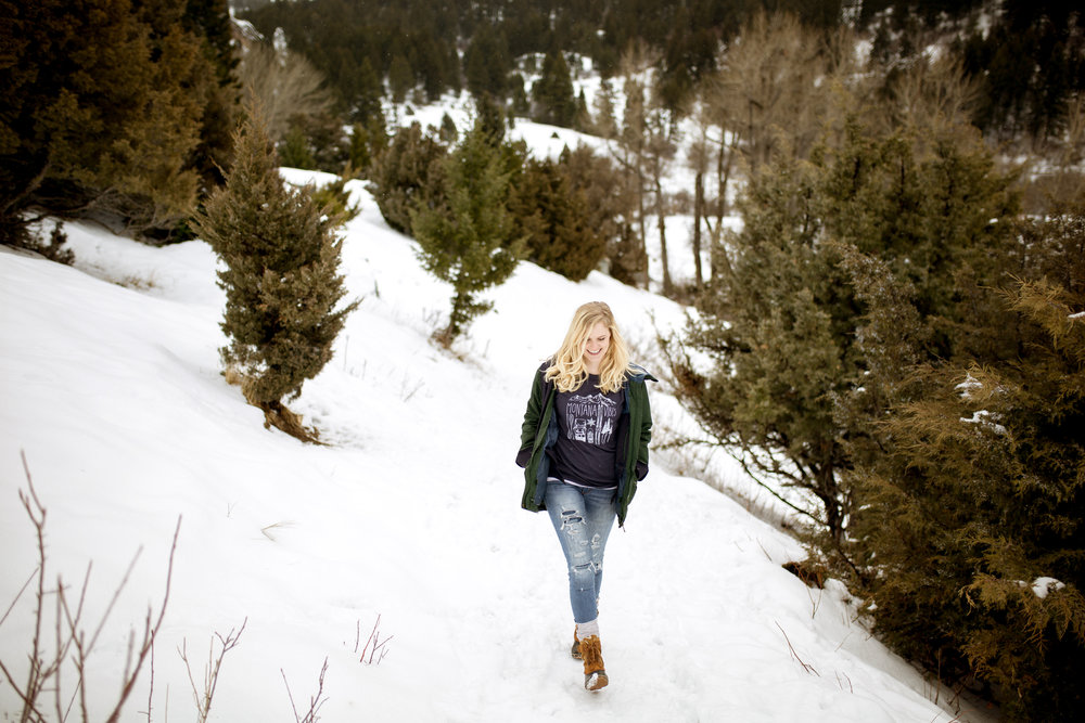 "The Montana Scene ""Montana Vibes"" tee shirt by blogger Bri Sul. Camping, hiking, boating, outdoors."