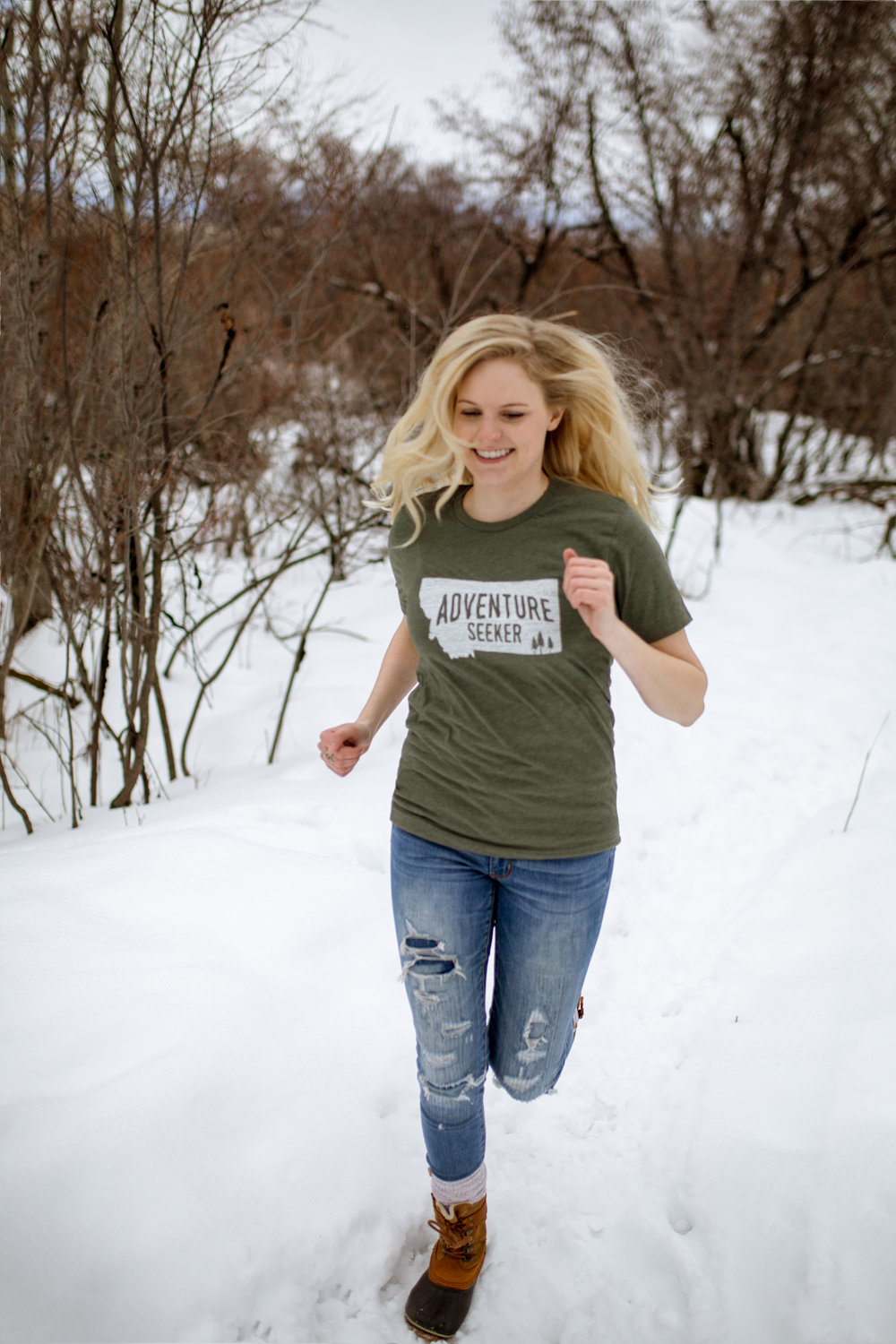 "The Montana Scene ""Adventure Seeker"" tee shirt by blogger Bri Sul"