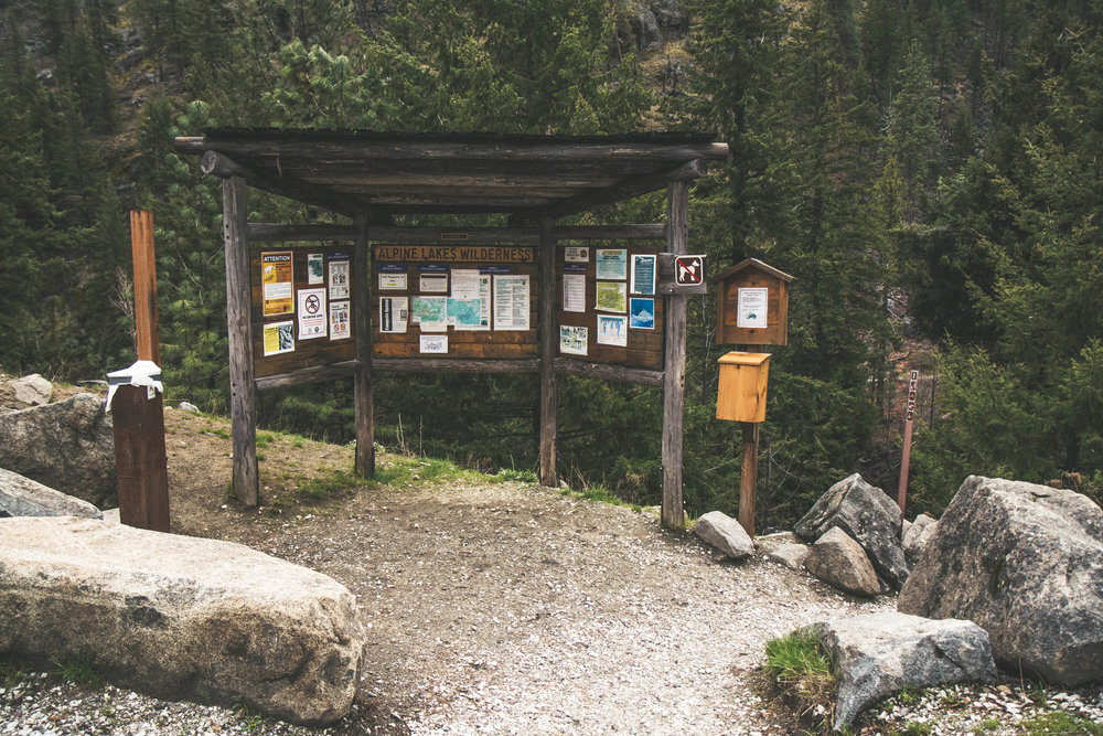 Snow Lakes Trailhead near the Bavarian Village Leavenworth in Washington. A gorgeous hike with beautiful waterfalls. Easy access in a car.