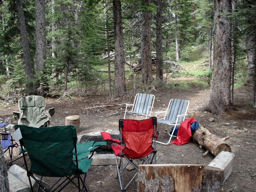 Camping near Fairy Lake near Bozeman, Montana
