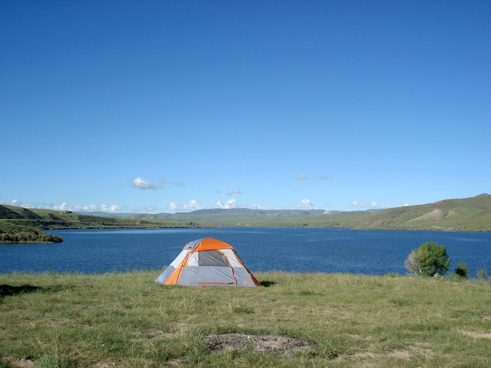 Camping at Ruby Reservoir in Southwestern Montana near Virginia City, Montana