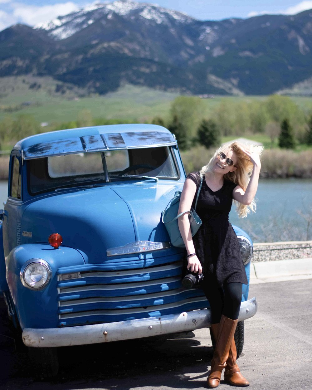 Lifestyle and travel blogger Bri Sul touring beautiful Bozeman, Montana