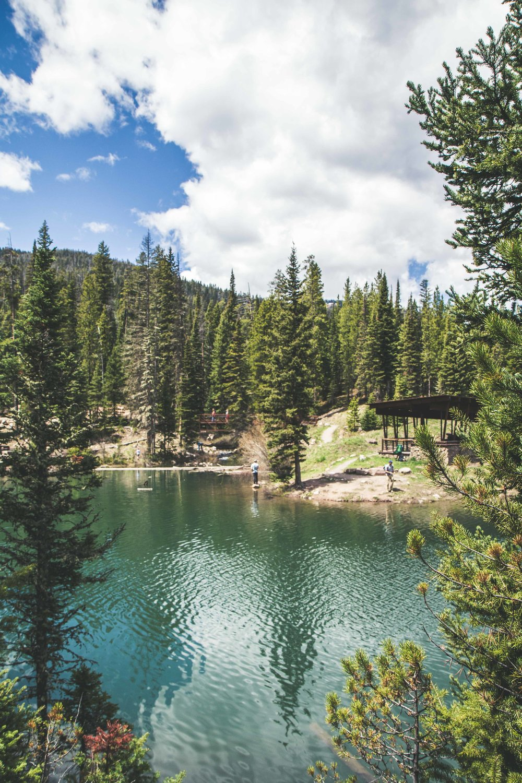 Hiking around Hyalite Reservoir near Bozeman, Montana