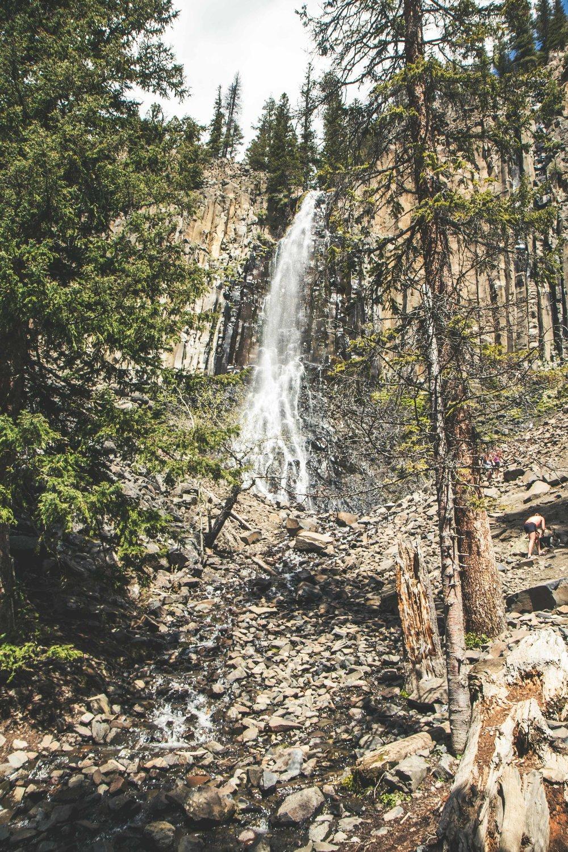 Hiking to Palisade Falls at Hyalite Reservoir near Bozeman, Montana