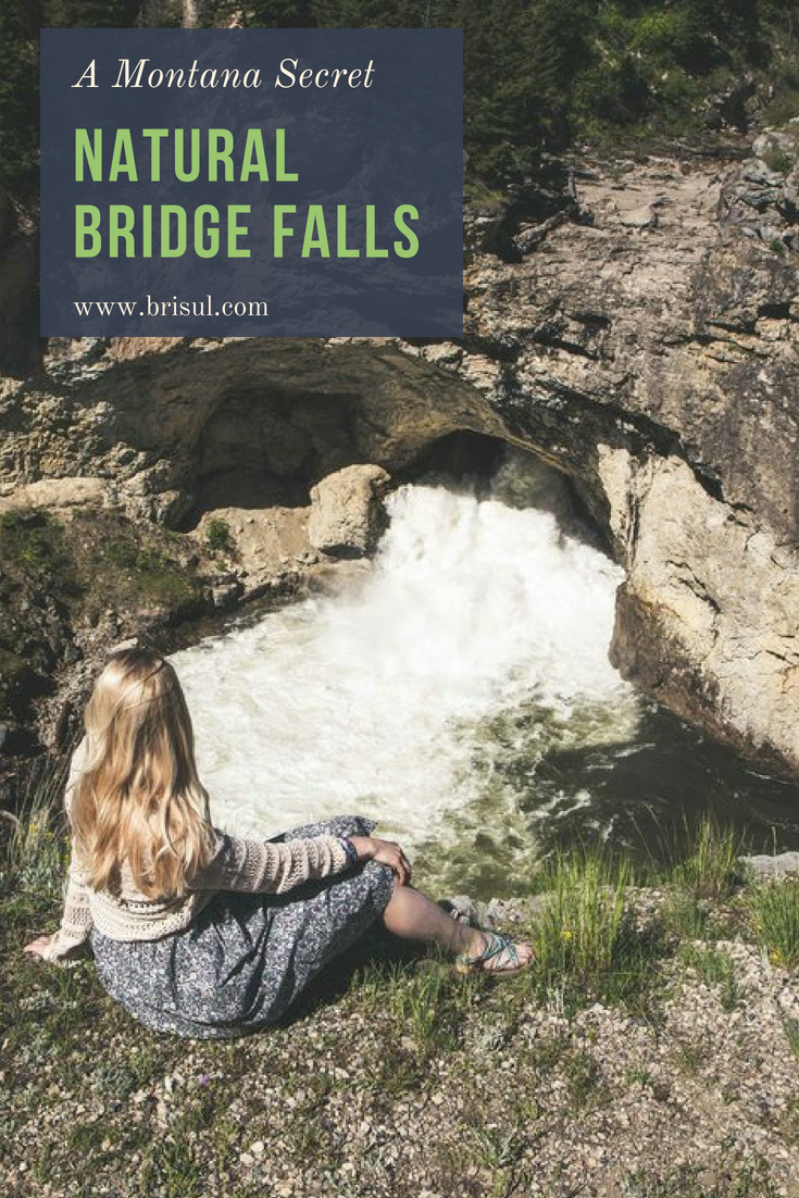 Natural Bridge Falls Picnic Area near Big Timber, Montana. Beautiful waterfalls with a lot of surrounding hiking. Great for families.