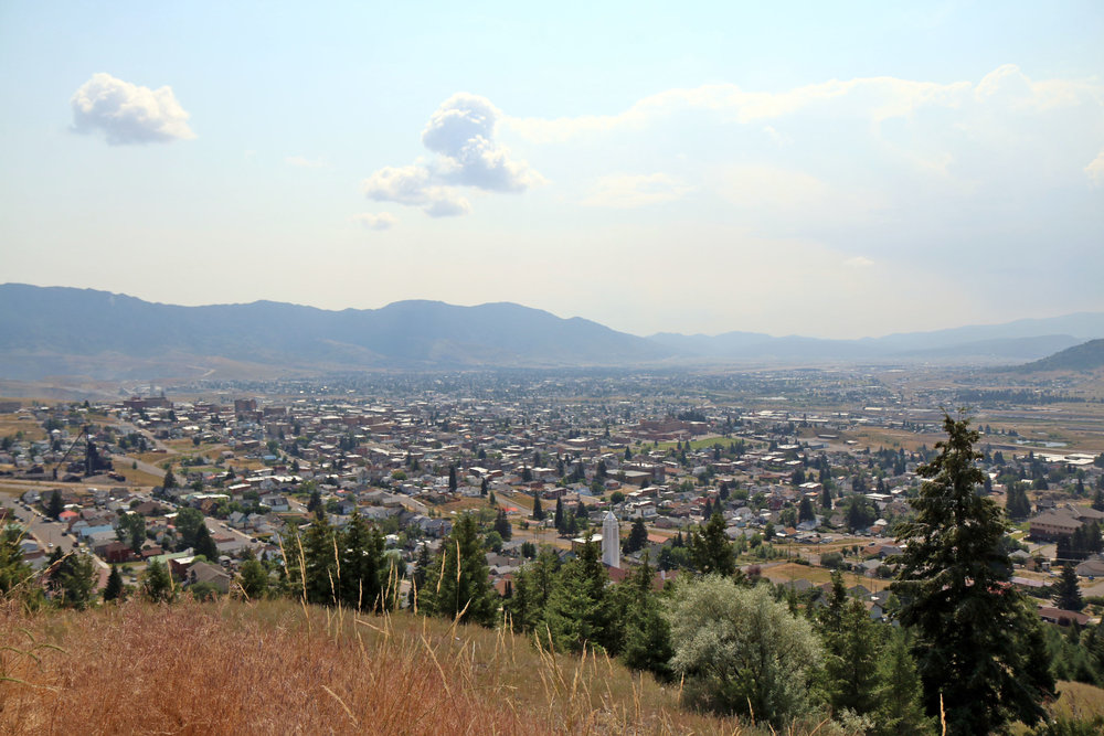 "Hiking the ""M"" trail in Butte, Montana"