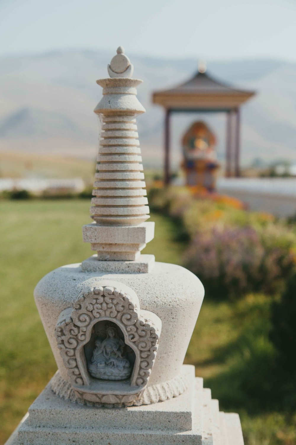 Ewam Buddha Garden, the Garden of One Thousand Buddhas, near Missoula, Montana. A must visit!