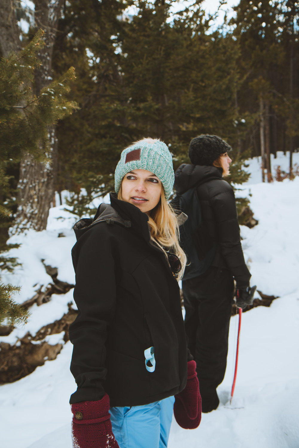 Everything you need to know about cutting down your own Christmas tree - adventure blogger Bri Sul looking cute while tree hunting in Montana.