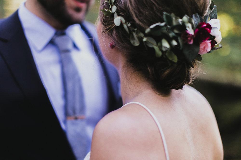 campground wedding details