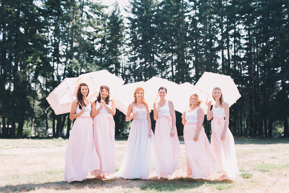 bridesmaids at kitsap memorial state park