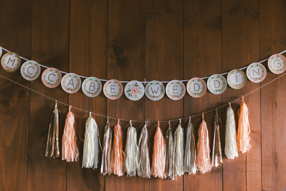 natural light wood wedding details