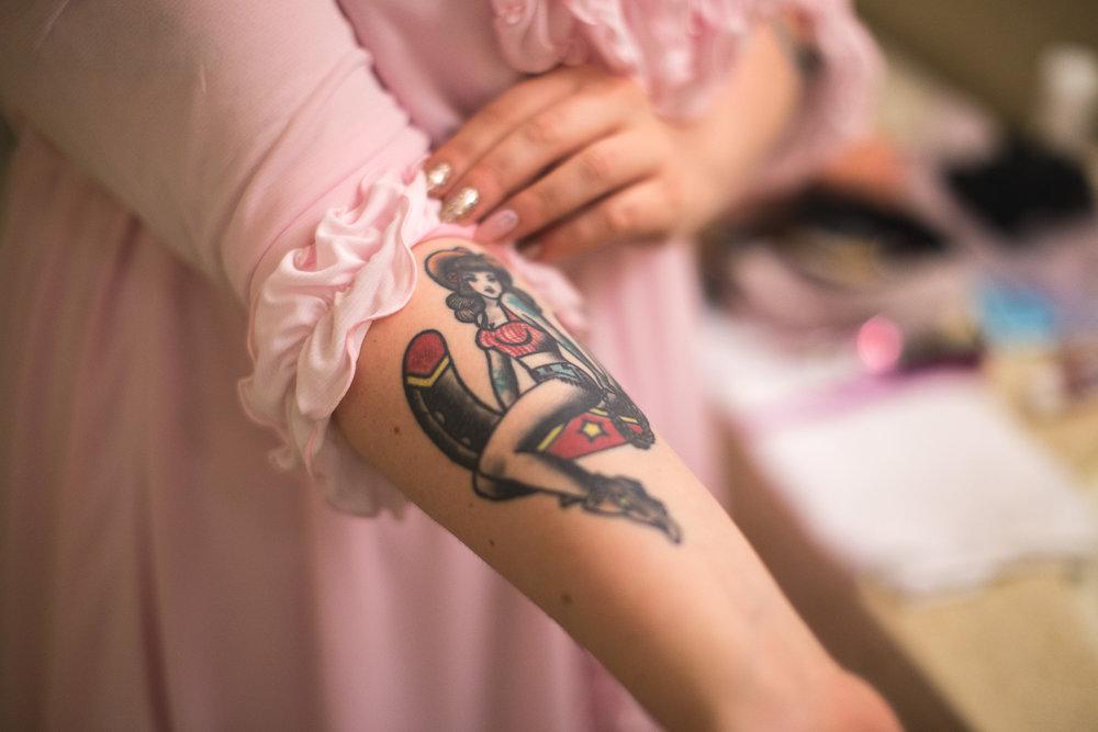 nea trad bridal tattoo